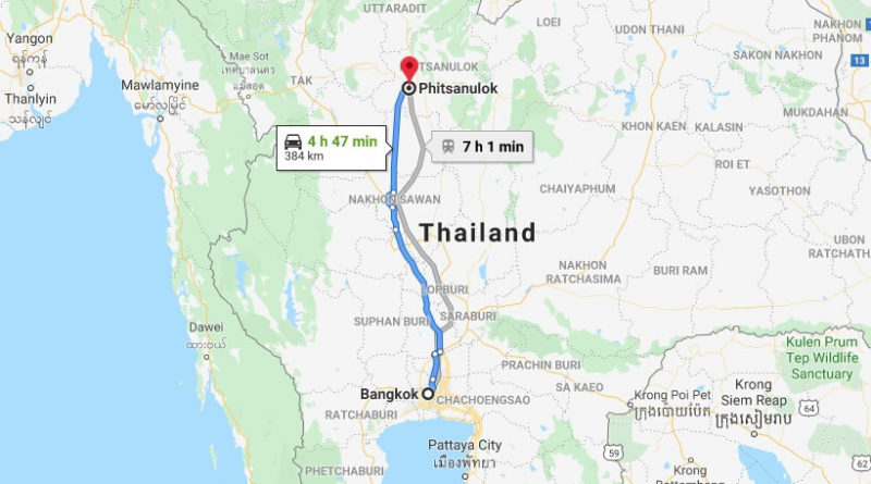 Where is Phitsanulok Located? What Country is Phitsanulok in? Phitsanulok Map