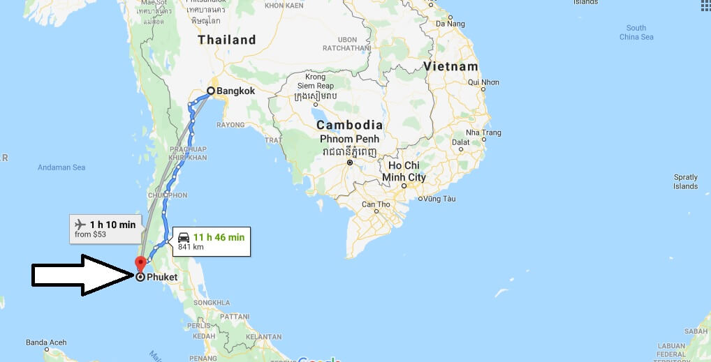 Where is Phuket Located? What Country is Phuket in? Phuket Map