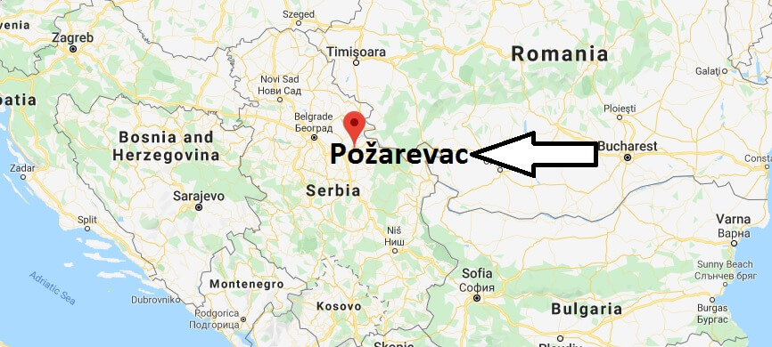 Where is Požarevac Located? What Country is Požarevac in? Požarevac Map