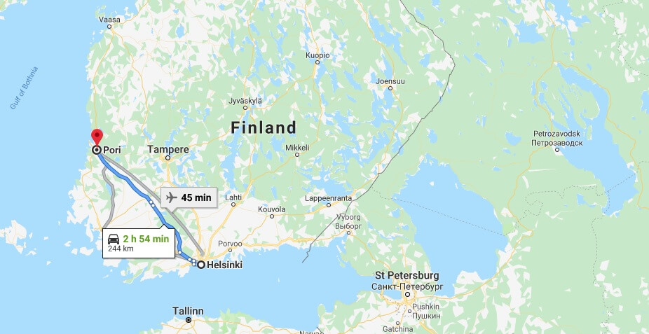 Where is Pori Located? What Country is Pori in? Pori Map