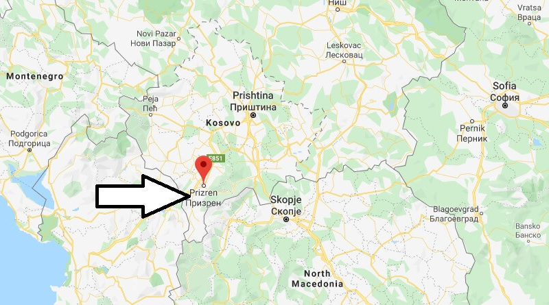 Where is Prizren Located? What Country is Prizren in? Prizren Map