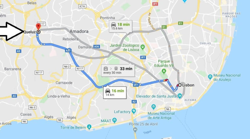 Where is Queluz Located? What Country is Queluz in? Queluz Map