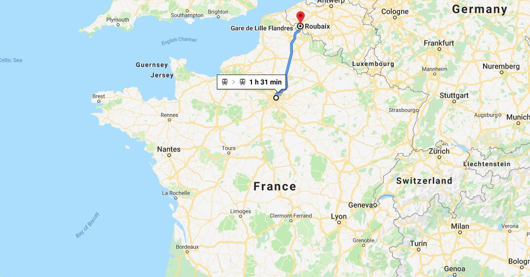 Where is Roubaix Located? What Country is Roubaix in? Roubaix Map