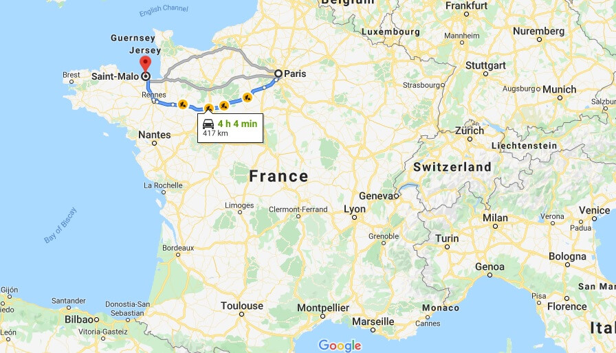 Where is Saint-Malo Located? What Country is Saint-Malo in? Saint-Malo Map