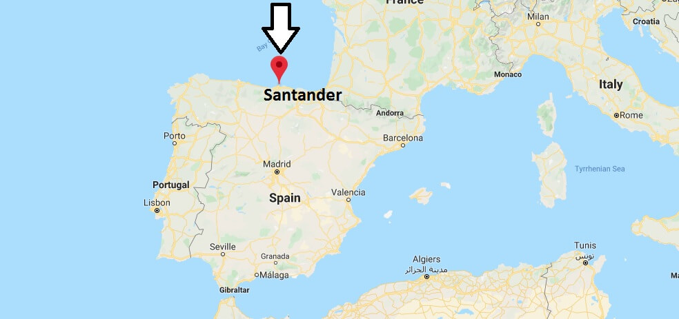 Where is Santander Located? What Country is Santander in? Santander Map