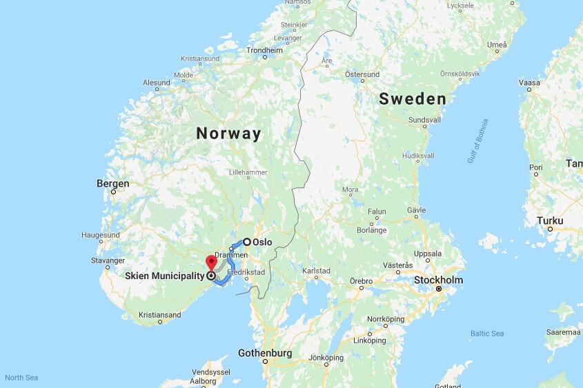 Where is Skien Located? What Country is Skien in? Skien Map