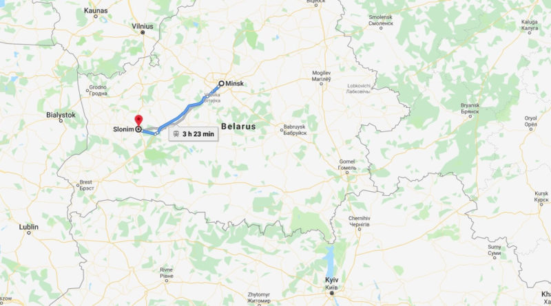 Where is Slonim Located? What Country is Slonim in? Slonim Map