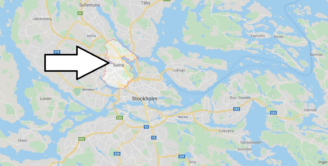 Where is Solna Located? What Country is Solna in? Solna Map