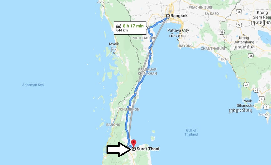 Where is Surat Thani Located? What Country is Surat Thani in? Surat Thani Map