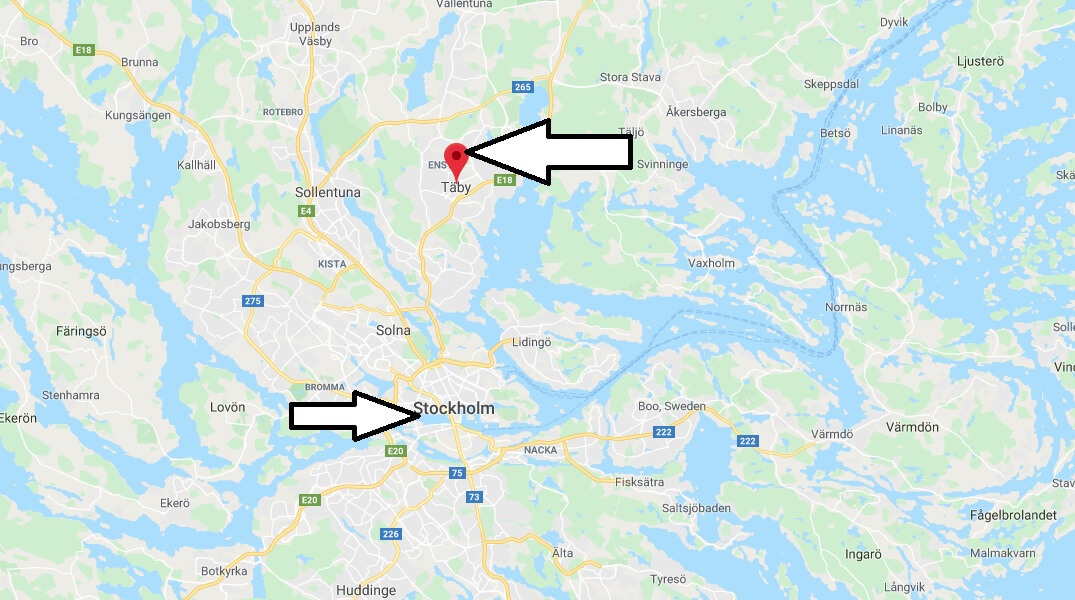 Where is Täby Located? What Country is Täby in? Täby Map