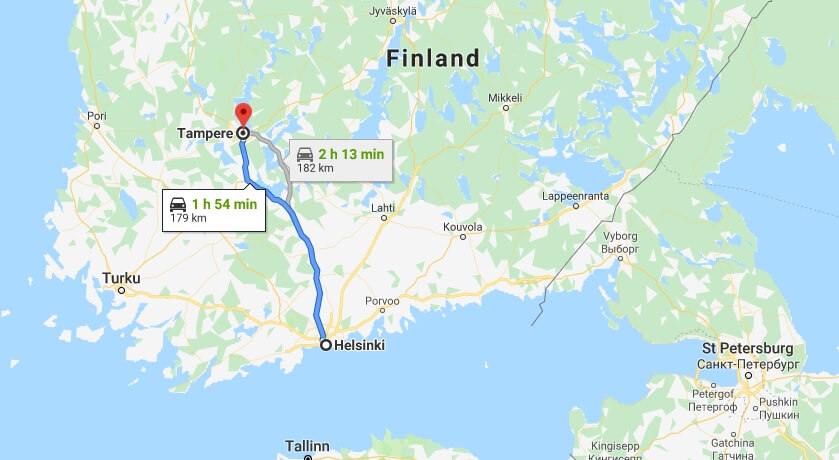 Where is Tampere Located? What Country is Tampere in? Tampere Map