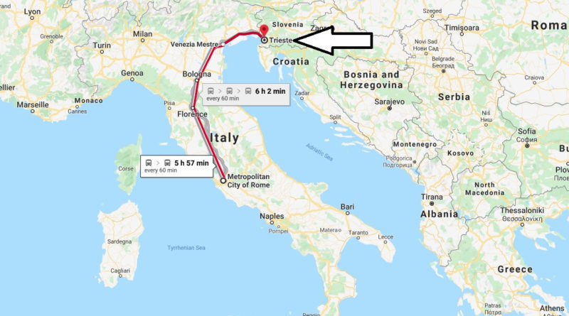 Where is Trieste Located? What Country is Trieste in? Trieste Map