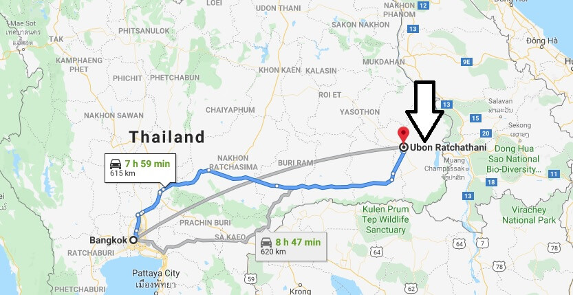 Where is Ubon Ratchathani Located? What Country is Ubon Ratchathani in? Ubon Ratchathani Map