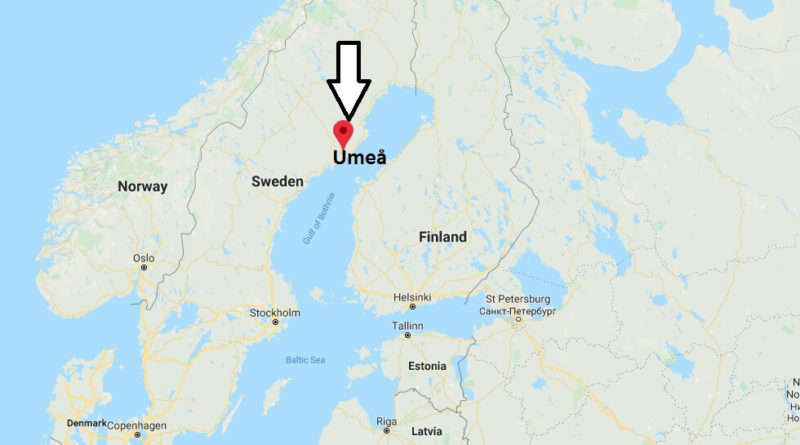 Where is Umeå Located? What Country is Umeå in? Umeå Map