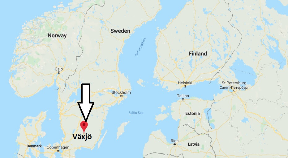 Where is Växjö Located? What Country is Växjö in? Växjö Map