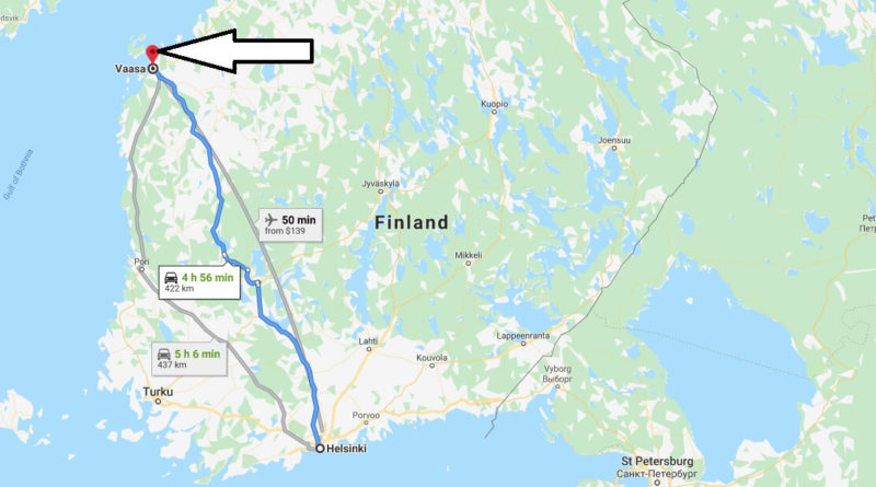 Where is Vaasa Located? What Country is Vaasa in? Vaasa Map