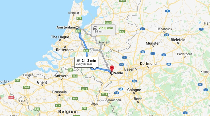 Where is Venlo Located? What Country is Venlo in? Venlo Map