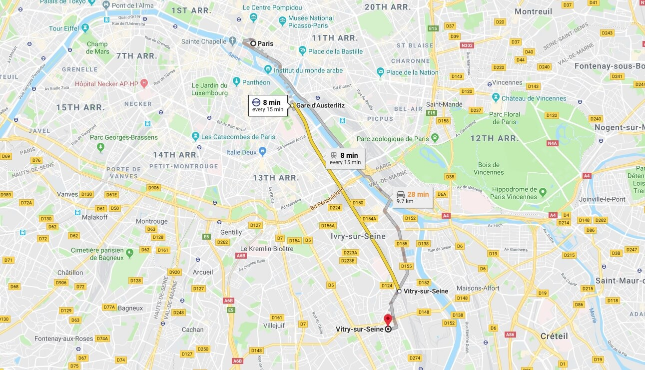Where is Vitry-sur-Seine Located? What Country is Vitry-sur-Seine in? Vitry-sur-Seine Map
