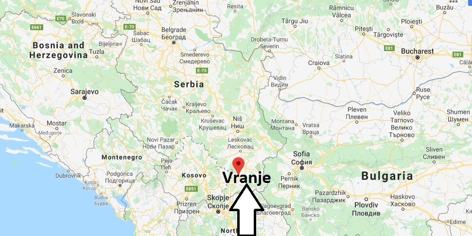 Where is Vranje Located? What Country is Vranje in? Vranje Map