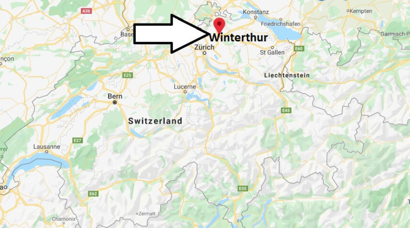 Where is Winterthur Located? What Country is Winterthur in? Winterthur Map