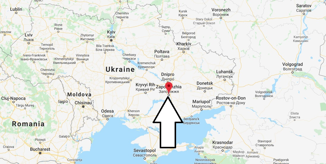 Where is Zaporizhzhya Located? What Country is Zaporizhzhya in? Zaporizhzhya Map