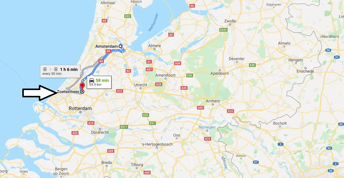 Where is Zoetermeer Located? What Country is Zoetermeer in? Zoetermeer Map