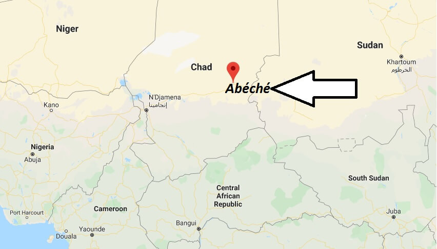 Where is Abéché Located? What Country is Abéché in? Abéché Map