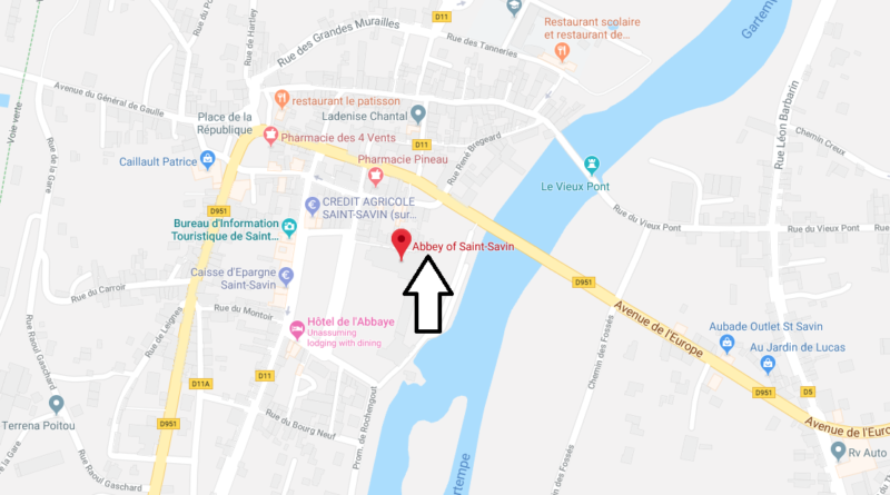 Where is Abbey of Saint-Savin Located