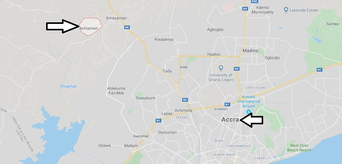 Where is Achiaman Located? What Country is Achiaman in? Achiaman Map