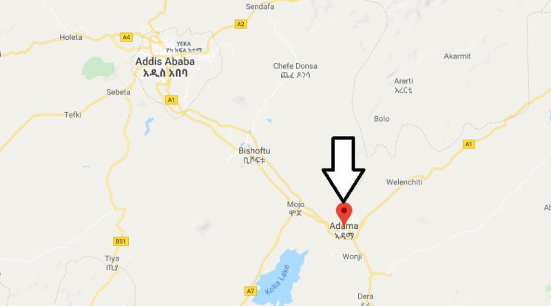 Where is Adama (Nazret) Located? What Country is Adama in? Adama Map