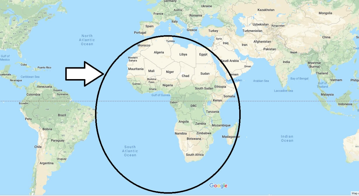 Where is Africa Located - What Continent is Africa in - Africa Map