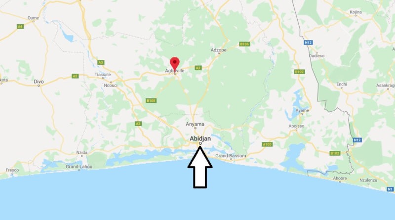 Where is Agboville Located? What Country is Agboville in? Agboville Map