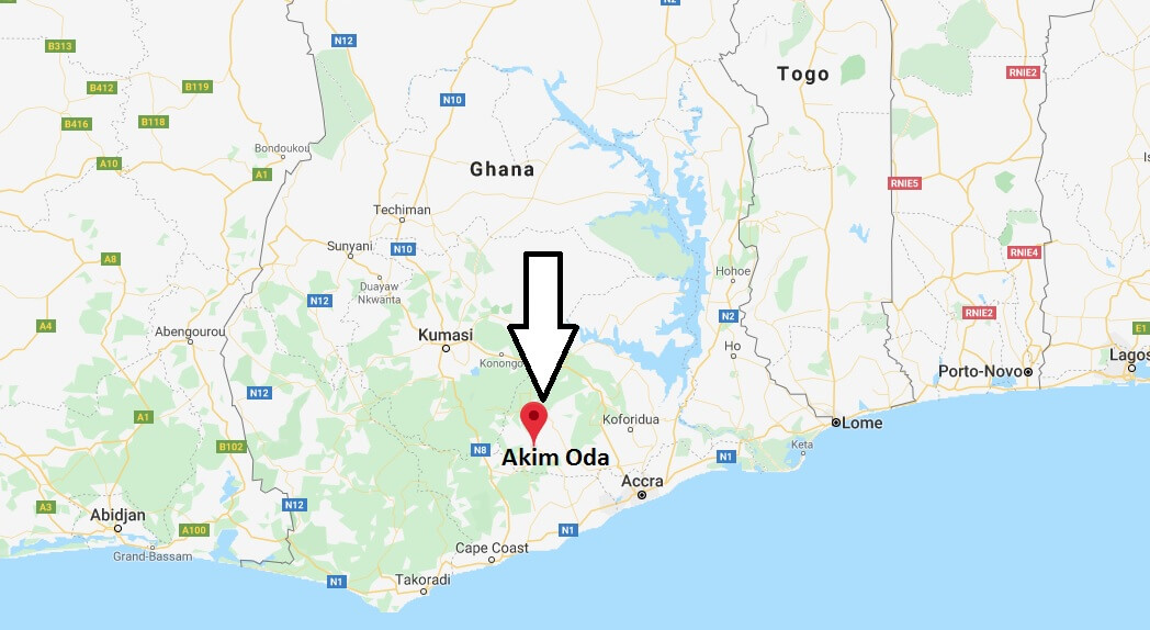 Where is Akim Oda Located? What Country is Akim Oda in? Akim Oda Map