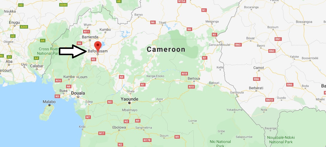 Where is Bafoussam Located? What Country is Bafoussam in? Bafoussam Map
