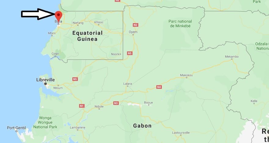 Where is Bata, Equatorial Guinea Located? What Country is Bata in? Bata Map