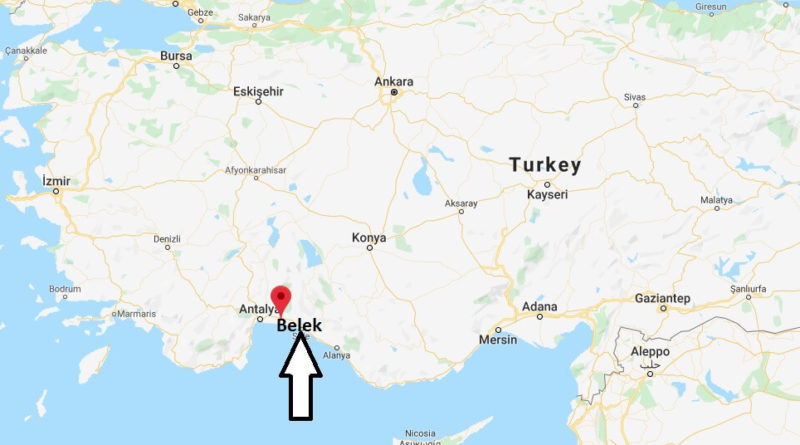 Where is Belek Located? What Country is Belek in? Belek Map