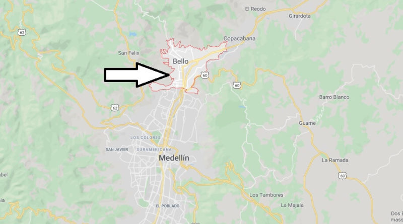Where is Bello, Colombia Located? What Country is Bello in? Bello Map