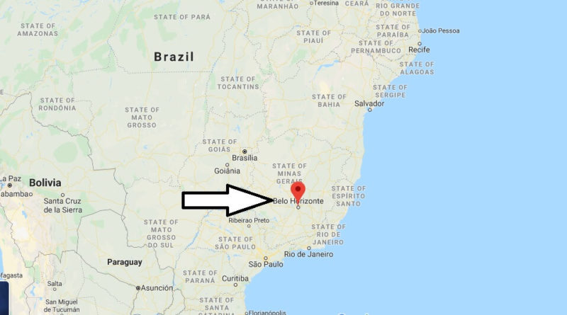 Where is Belo Horizonte Located? What Country is Belo Horizonte in? Belo Horizonte Map