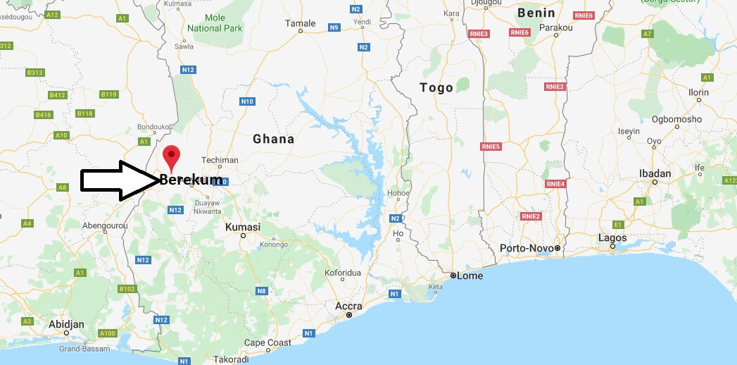 Where is Berekum Located? What Country is Berekum in? Berekum Map