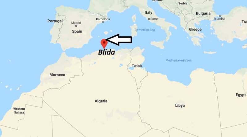 Where is Blida Located? What Country is Blida in? Blida Map