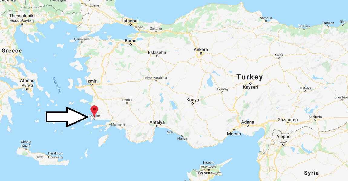 Where is Bodrum Located? What Country is Bodrum in? Bodrum Map