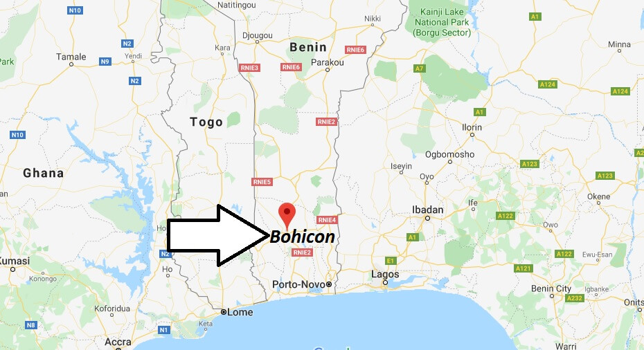 Where is Bohicon Located? What Country is Bohicon in? Bohicon Map