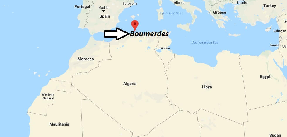 Where is Boumerdes Located? What Country is Boumerdes in? Boumerdes Map
