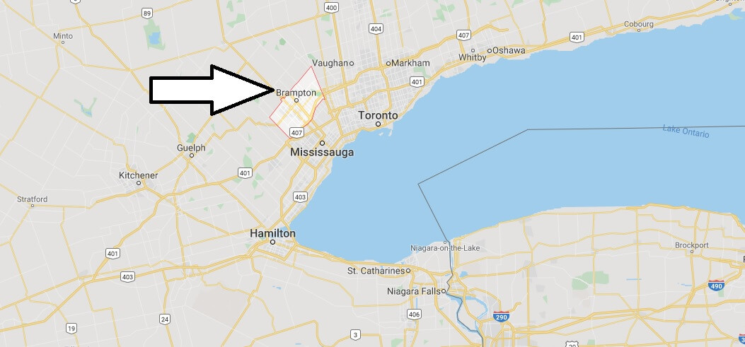 Where is Brampton Located? What Country is Brampton in? Brampton Map