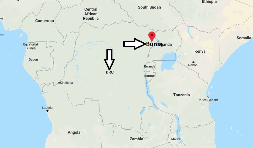 Where is Bunia Located? What Country is Bunia in? Bunia Map
