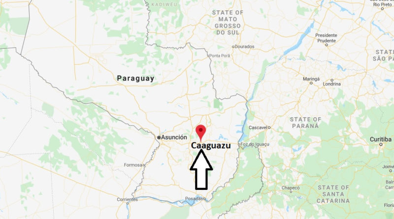 Where is Caaguazu Located? What Country is Caaguazu in? Caaguazu Map