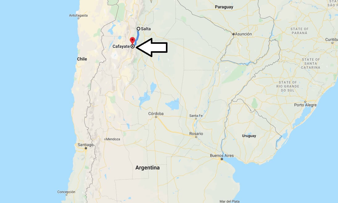 Where is Cafayate, Argentina Located? What Country is Cafayate in? Cafayate Map