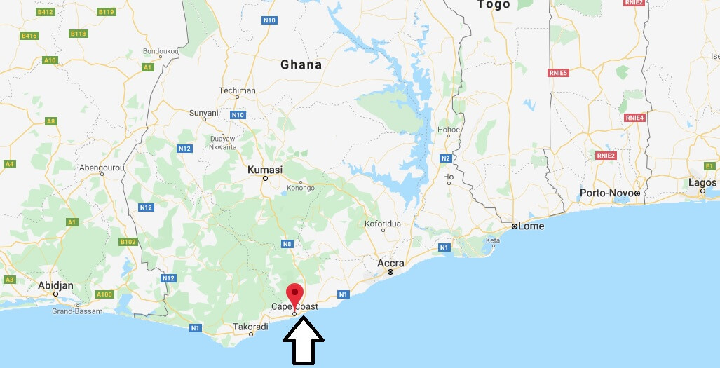 Where is Cape Coast Located? What Country is Cape Coast in? Cape Coast Map