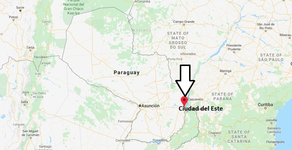 Where is Ciudad del Este Located? What Country is Ciudad del Este in? Ciudad del Este Map