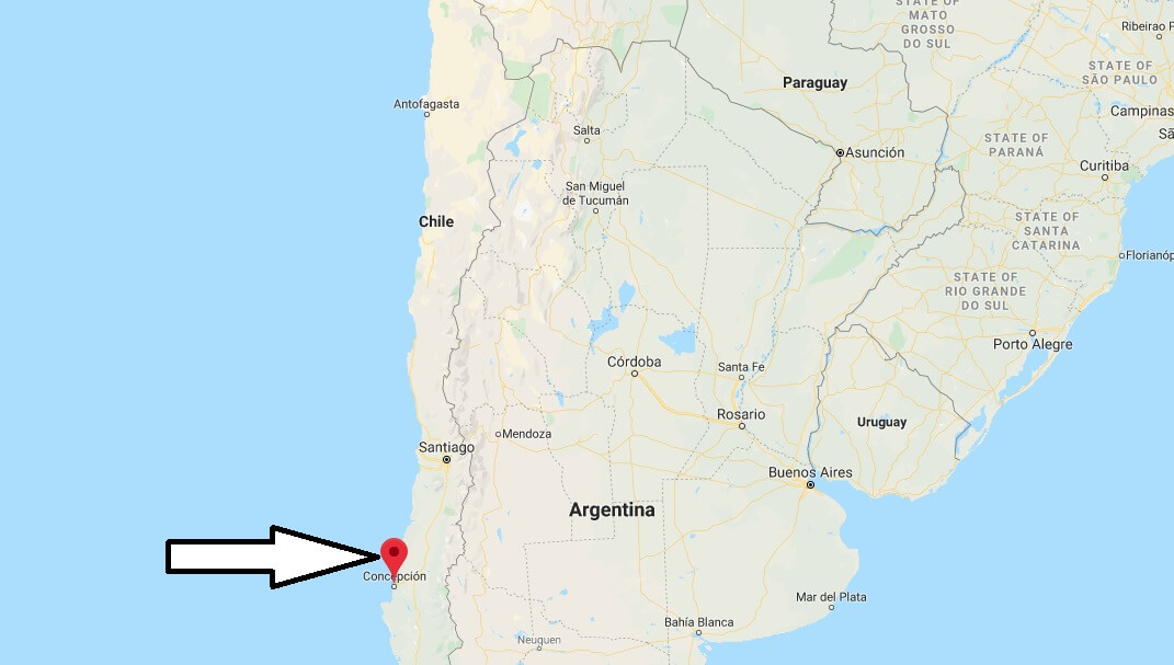 Where is Concepción Located? What Country is Concepción in? Concepción Map